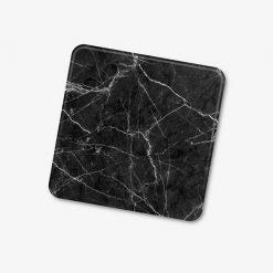 Square Black Marble Coaster