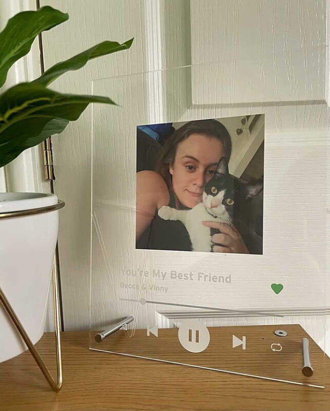 Personalised Song and Photo Plaque