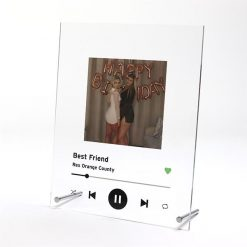 Spotify Plaque Black with Image