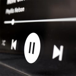Spotify Plaque White Pause