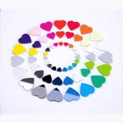 Heart Acrylic Craft Shapes