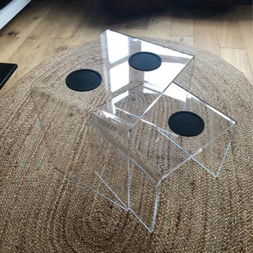 Clear Table Nest
