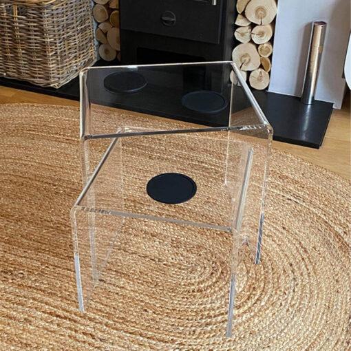 Clear Acrylic Table Nest