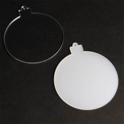 Clear or Frosted Acrylic Bauble Blanks