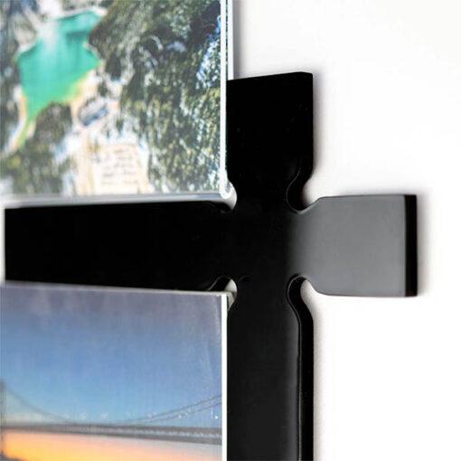Self Adhesive Acrylic Square Photo Pockets_Divider Close Up