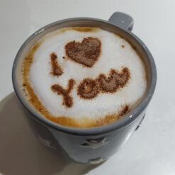 I Love You Coffee Stencil - Mug