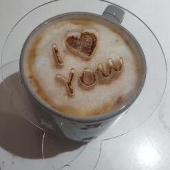I Love You Coffee Stencils