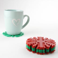 Acrylic Snowflake Coasters