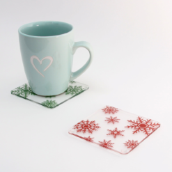 Printed Acrylic Snowflake Coasters